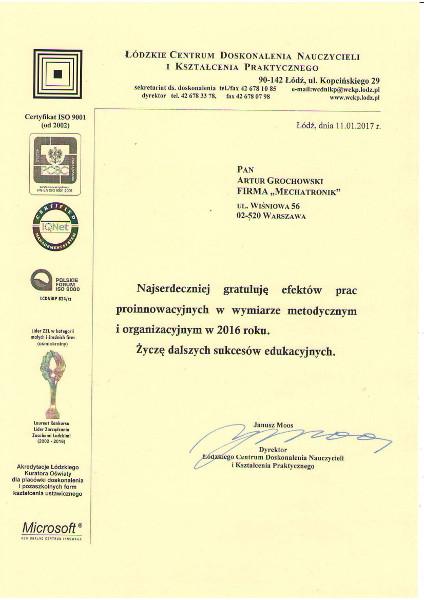 Gratulacje Łódź